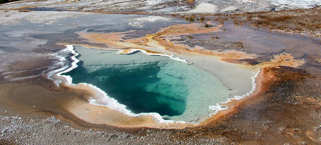 Image of another hot spring where TBI researchers sample.